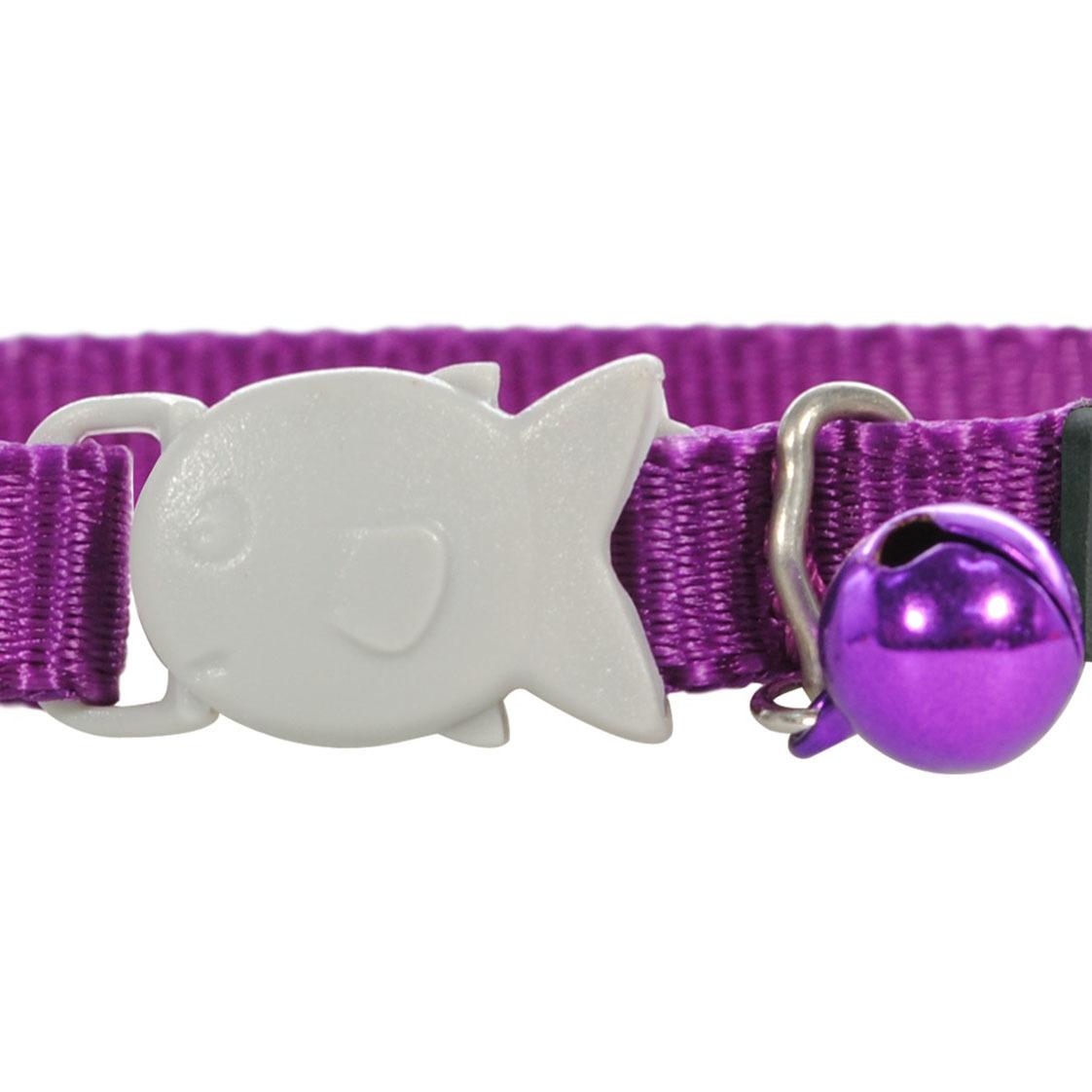 Red Dingo Plain Purple Kitten Collar