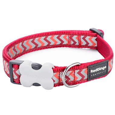 Red Dingo Reflective Ziggy Red Dog Collar