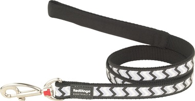 Red Dingo Reflective Ziggy Black Dog Lead