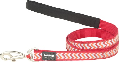 Red Dingo Reflective Ziggy Red Dog Lead