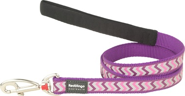 Red Dingo Reflective Ziggy Purple Dog Lead