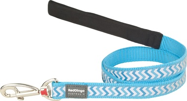 Red Dingo Reflective Ziggy Turquoise Dog Lead