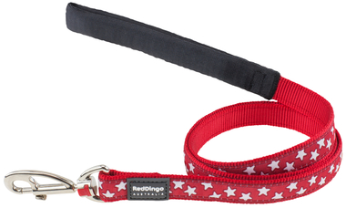 Red Dingo Star Dog Lead