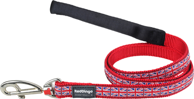 Red Dingo Union Jack Dog Lead