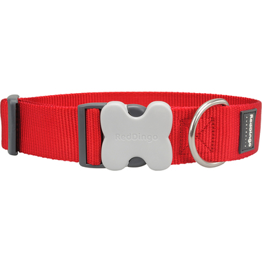 Red Dingo Plain GIANT Red Dog Collar
