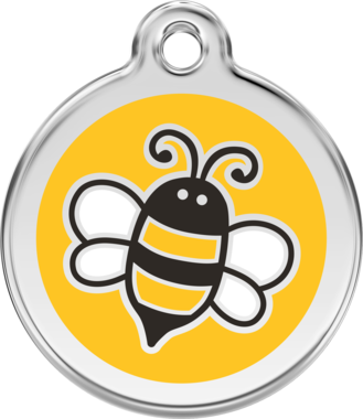 Red Dingo Bumble Bee Enamel Pet ID Tag