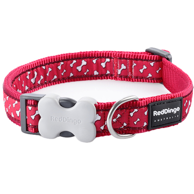 Red Dingo Flying Bones Dog Collar
