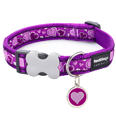 Red Dingo Breezy Love Purple Collar & Tag