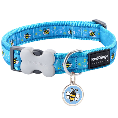 Red Dingo Bumble Bee Collar & Tag