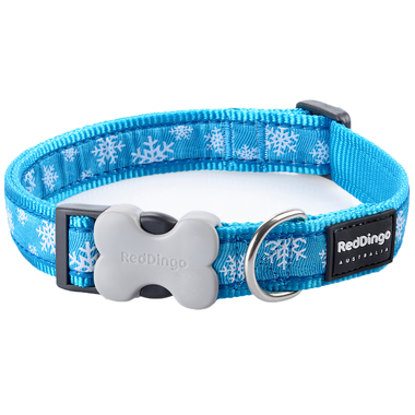 Red Dingo Winter Snowflake Dog Collar