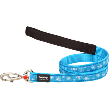 Red Dingo Winter Snowflake Dog Lead