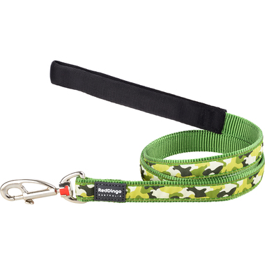 Red Dingo Camouflage Dog Lead