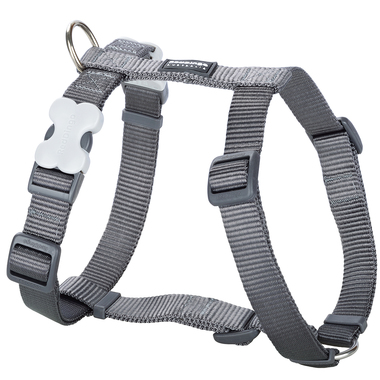 Red Dingo Plain Grey Dog Harness