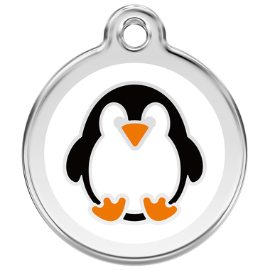 Red Dingo Penguin Enamel Pet ID Tag