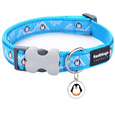 Red Dingo Penguin Collar & Tag