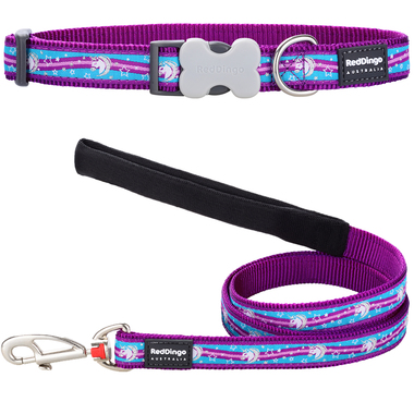 Red Dingo Unicorn Dog Collar & Lead Set