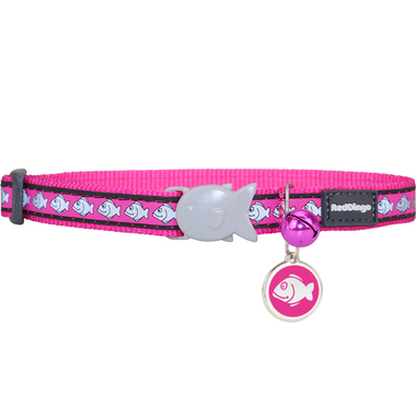 Red Dingo Reflective Cat Collar & Tag