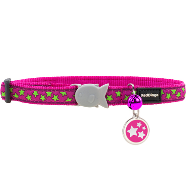 Red Dingo Star Cat Collar & Tag