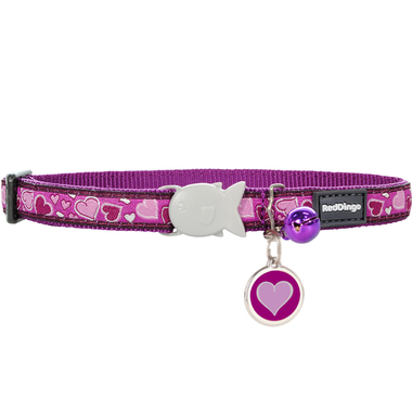 Red Dingo Breezy Love Cat Collar & Tag