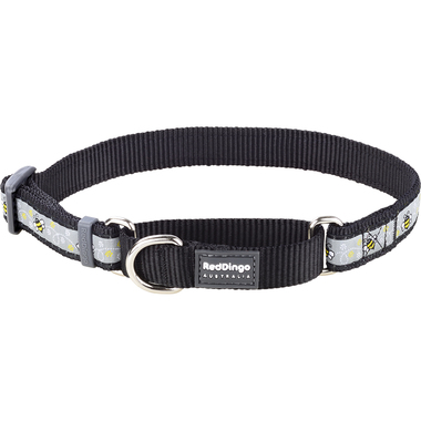 Red Dingo Bumble Bee Black Martingale Dog Collar