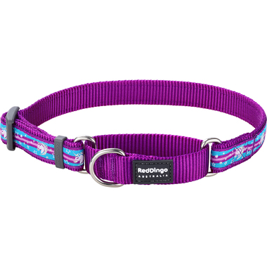 Red Dingo Unicorn Purple Martingale Dog Collar
