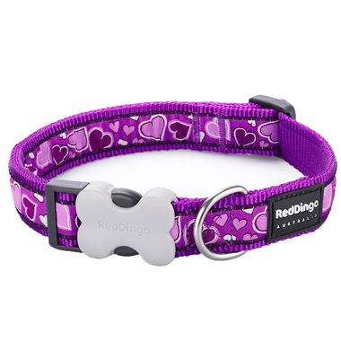 Red Dingo Breezy Love Purple Dog Collar