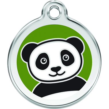 Red Dingo Panda Enamel Pet ID Tag