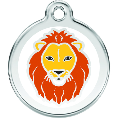 Red Dingo Lion Enamel Pet ID Tag