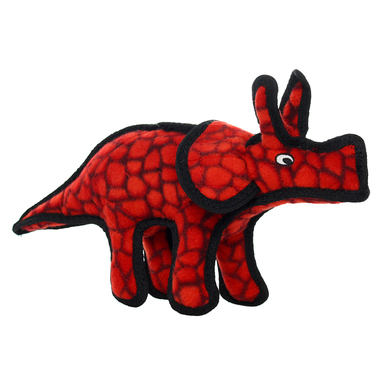 Tuffy Jr Dinosaur Triceratops Dog Toy