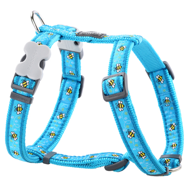 Red Dingo Bumble Bee Turquoise Dog Harness