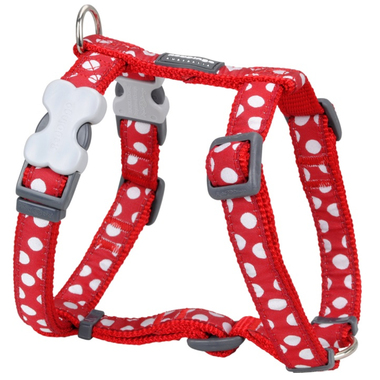 Red Dingo White Spots on Red Dog Harness