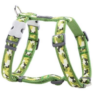 Red Dingo Green Camouflage Dog Harness