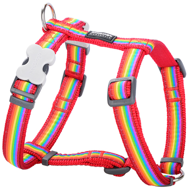 Red Dingo Rainbow Dog Harness