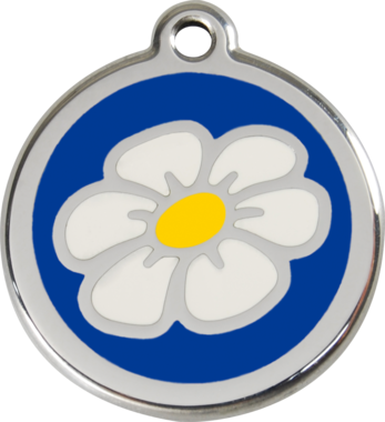 Red Dingo Daisy Enamel Pet ID Tag