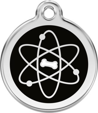 Red Dingo Atom Enamel Pet ID Tag