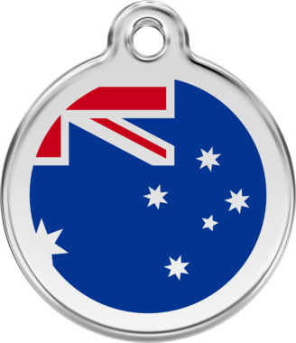 Red Dingo Australian Flag Enamel Pet ID Tag