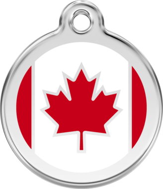 Red Dingo Canadian Flag Enamel ID Tag