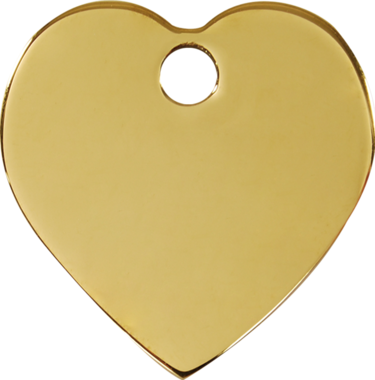 Red Dingo Brass Heart Pet ID Tag