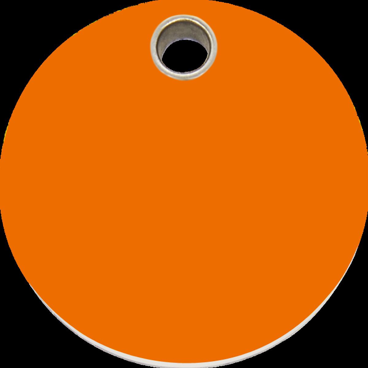 Red Dingo Plastic Circle Pet ID Tag