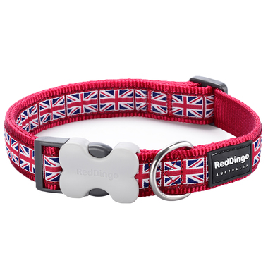Red Dingo Union Jack Dog Collar