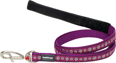 Red Dingo Daisy Chain Purple Dog Lead
