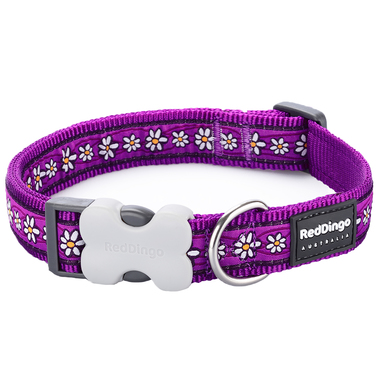 Red Dingo Daisy Chain Purple Dog Collar