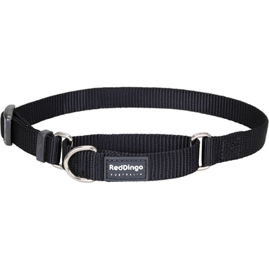 Red Dingo Classic Black Martingale Dog Collar