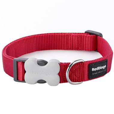 Red Dingo Plain Red Dog Collar