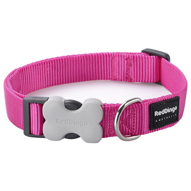 Red Dingo Plain Hot Pink Dog Collar