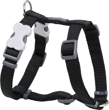 Red Dingo Plain Black Dog Harness