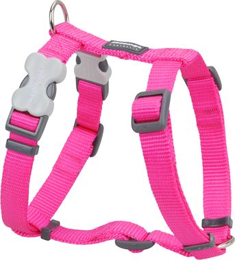 Red Dingo Plain Hot Pink Dog Harness