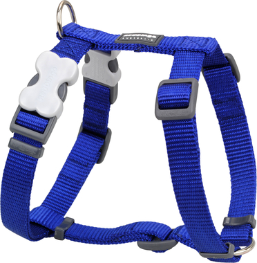 Red Dingo Plain Dark Blue Dog Harness