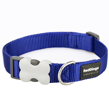 Red Dingo Plain Dark Blue Dog Collar