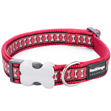 Red Dingo Reflective Red Dog Collar